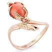Кольцо с кораллом золотое SL-0245-337 весом 3.37 г  стоимостью 25275 р.