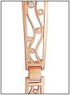 Золотой браслет для часов  5164007 весом 14 г  стоимостью 51800 р.