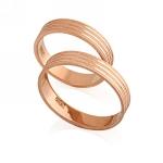 Обручальное кольцо классическое E108013 весом 5.83 г