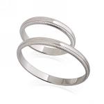 Кольцо обручальное белое золото E134001 весом 3.53 г