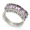 Серебряное кольцо дорожка из аметистов SL-02198-420 весом 4.15 г  стоимостью 1500 р.