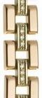 Браслет для часов из золота 326580 весом 17.5 г  стоимостью 62983 р.