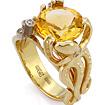 Кольцо с цитрином и бриллиантами «Осьминог» SLV-K385 весом 11.35 г  стоимостью 66700 р.