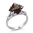 Серебряное кольцо с раухтопазом SL-0255-330 весом 3.3 г  стоимостью 2500 р.