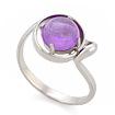 Серебряное кольцо с аметистом SL-2125-278 весом 2.78 г  стоимостью 1200 р.
