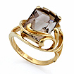 Золотое кольцо с большим прямоугольным раухтопазом SL-2174-605 весом 6.05 г  стоимостью 19100 р.