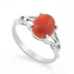 Серебряное кольцо с кораллом SL-2296-251 весом 2.51 г  стоимостью 1500 р.