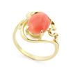 Оригинальное кольцо с натуральным кораллом SLK-0280-380 весом 3.88 г  стоимостью 29100 р.
