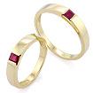 Обручальное кольцо с рубином SLZ-13801-698 весом 5.8 г  стоимостью 45000 р.